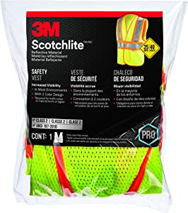 3M 94620-80030 Class 2 Two-Tone Construction Safety Vest with Reflective Clothing, Hi-Viz Yellow