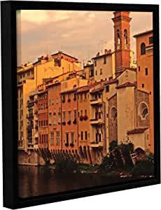 ArtWall Kathy Yates Florence Charm Gallery-Wrapped Floater-Framed Canvas Artwork, 24 by 24""