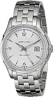 Hamilton 男士 H32515155 Jazzmaster Viewmatic 银色表盘手表