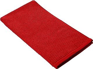 Aneesi 洗浴和休闲50 x 100厘米罗纹纯棉手巾,黑色_PARENT 唇膏红 Hand Towel (50x100 cm) RIBRIBTWLLRD50100