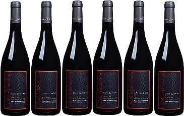 【亚马逊酒庄直采】Joel Robuchon 乔尔·侯布匈 Cotes du Rhone 罗纳河谷干红葡萄酒 750ml*6(亚马逊进口直采红酒,法国品牌)自营精选
