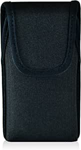 Turtleback 谷歌 Pixel 皮套,皮带夹袋,皮革和尼龙材质 - 美国制造 Black Nylon/Metal Clip Vert