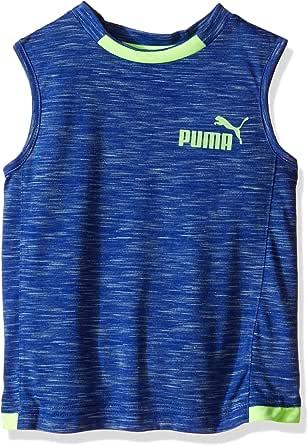 PUMA Boys' #1 Logo Muscle Tank 蓝色 7