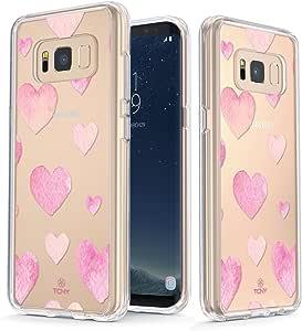 True Color Watercolor Clear Shield Watercolor Hearts For Samsung Galaxy S8 Plus