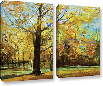 """ArtWall Michael Creese's Shades of Autumn 2 Piece Gallery Wrapped Canvas Set, 24 by 32"""""""