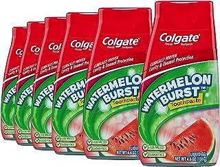 Colgate 高露洁 2合1 儿童牙膏和防蛀漱口剂,西瓜味,4.6盎司(130g)(6件)