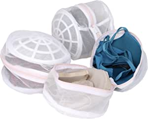 Laundry Science 优质胸罩清洗袋适用于胸罩贴身内衣和精致白色 白色 常规 B01E9O9PXK