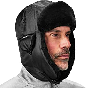 Ergodyne 6802 Classic Trapper Hat, Black 黑色 Large/XL