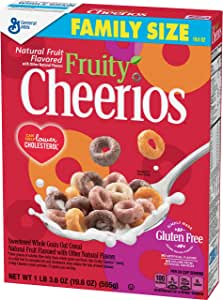 Fruity Cheerios Family Size, 19.6 Ounce (Pack of 12)