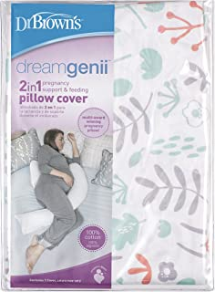 Dr. Brown's Dreamgenii 2 合 1 孕妇支撑和哺乳枕套,桃子自然色