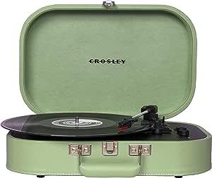 Crosley Discovery 复古蓝牙 3 速皮带驱动手提箱转盘