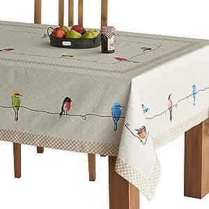 """Maison d' Hermine Birdies On Wire * 纯棉桌布 多种颜色 60""""x90"""" FBA_B01CJCRHS4"""