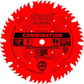 Freud LU84R011 10-Inch 50-tooth ATB Combination Saw Blade with 5/8-Inch Arbor and PermaShield Coating