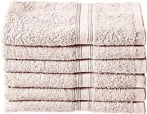 "Northpoint 155982 纯色 6 件装棉毛巾毛巾,*红色,33.02 厘米 X 33.02 厘米 青辣粉红 13"" x 13"" 155975"