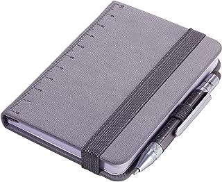 TROIKA LILIPAD+LILIPUT - NPP25/GY - 记事本 DIN A7 包括 圆珠笔 - 笔记本 - 笔环,书签 - 标尺(10 厘米)封面 - FSC 认证的纸张,穿孔页,点矩阵 - TROIKA-Original