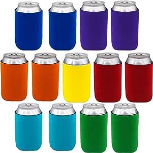 氯丁橡胶罐套 - 13 只装普通罐冷却器套,适合 340.19 克罐和 340.19 克玻璃和铝瓶。 Impirilux 优质氯丁橡胶及缝线 多种颜色