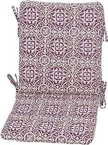 种植图案 7257-02292400 户外餐椅靠垫 Size: 19. 5 in. X 38. 25 in. X 2 in. 7257-02295600