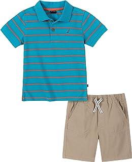 Nautica 套装 (KHQ) 男孩短袖 Polo 衫