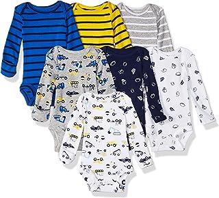 Carter ' s 婴儿男孩6双装长袖紧身衣