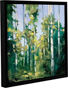 "ArtWall 2pur017a2424f Julia Purinton's Birches Gallery Wrapped Floater Framed Canvas Artwork, 24"" x 24"""