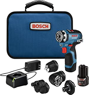 Bosch 博世 GSR12V-300FCB22 12V Max EC 无刷 Flexiclick 5 合 1 钻头/驱动系统,带 (2) 2.0 Ah电池