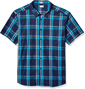 Columbia Boulder Ridge 短袖衬衫 XLT 蓝色 1768983-465-XLT