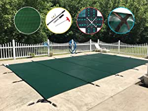Water Warden Pool Safety Cover 绿色 30ft x 40ft