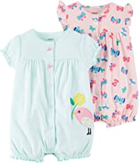 Carter's 女婴 连衣裤 2 件装 Bird/Butterfly 18 Months