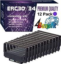 (12 件裝,紫色,POS 色帶)4Benefit 兼容愛普生 ERC30 ERC34 ERC38 絲帶墨盒 ERC30BR 用于愛普生 KN506 TM 200 TMU 220 TMU230 打印機