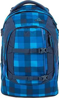 satch 包装学校背包48厘米 Karo Blau 45 cm