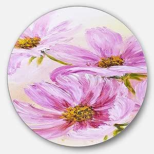 Designart Green/Pink 23X23 - Disc of 23 inch MT10013-C23