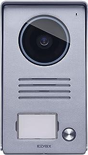 Vimar 40921.P1 外置铝制音频/视频牌适用于 7 英寸彩色液晶免提视频门对讲机带雨罩框架,1 个按钮墙面安装