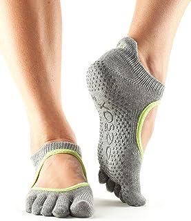 toesox 女式 bellarina 全头手柄防滑适用于芭蕾 yoga 普拉提 barre 脚趾袜