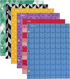 Mead 商品时尚两袋文件夹,设计随机,6 件装