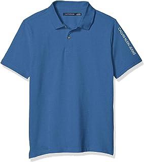 Calvin Klein 男童短袖珠地布 Polo 衫