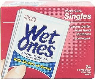 Wet Ones 湿巾清香*单片装 - 24 片装,2 件装