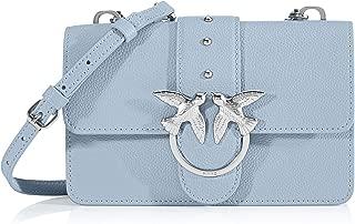 PINKO 女士 Love Mini Simply 1 Cl Pelle Bo 單肩包,6x12.8x20.8 厘米