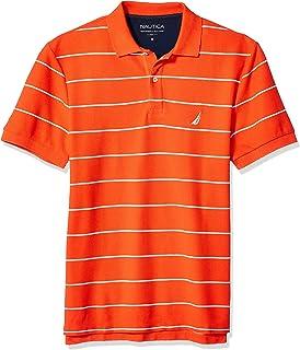 Nautica 男士条纹甲板锚马球衫 Spicy Orange 3X-Large