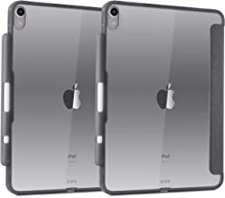 TineeOwl Glace iPad Pro 11 英寸超薄透明保護殼帶鉛筆架,支持 Apple 鉛筆無線充電[吸收沖擊] 柔性 TPU,輕質