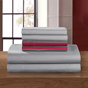 Chic Home SS5194-AN 4 Piece Solid Super Soft Brushed Microfiber Sheet Set with 1 Bonus Pillow Case, Twin, Black