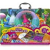 Crayola 绘儿乐;Trolls Glitter 剪贴本绘画艺术礼盒;剪贴本绘画活动的艺术工具;超过 115 页;很棒的礼物