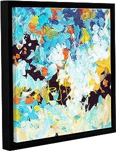 ArtWall Jan Weiss's Floral Garden 2 画廊装裱地板画框油画 14x14 0wei073a1414f