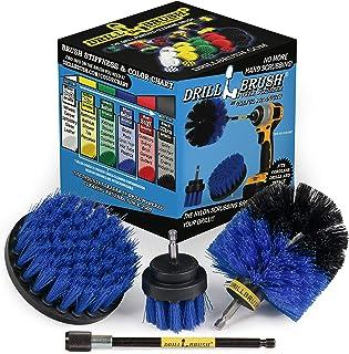 3 件套钻头刷清洁工具附件套件用于擦洗/清洗带延长 2in, 4in, 3.5in corner brush, 5in extension 蓝色