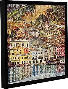 "ArtWall Gustav Klimt's Malcesina at Gardasee Gallery Wrapped Floater Framed Canvas, 14 by 14"""