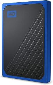 Western Digital 西部数据 1TB My Passport Go 固态硬盘 Cobalt 便携外部存储, USB 3.0 - WDBMCG0010BBT-WESN