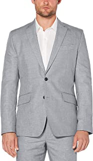 Cubavera 男士 Cubavera Men's Linen Cotton Herringbone Textured Blazer