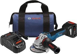 Bosch 博世  角磨机套件 GWS18V-45PSCB14 18V EC无刷连接4-1 / 2英寸/约11.43厘米,无锁定式板形电门和CORE18V电池