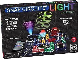ELENCO Snap Circuits 电子光探索套装  超过175个令人兴奋的STEM项目  全彩项目手册  55个以上Snap Circuits零件  STEM儿童大脑发展玩具,适合8岁以上的人群