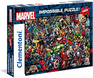 Clementoni 39411 Clementoni-39411-Impossible拼图-Marvel-1000块,多色