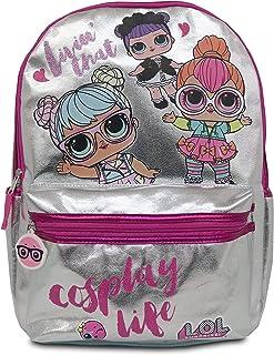 L.O.L. 惊喜! 女孩学生背包,带粉色亮片 银色 One_Size